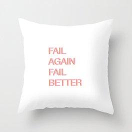 Fail. Beckett. Throw Pillow