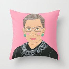 Ruth Bader Ginsberg Throw Pillow