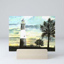 Tybee Island Lighthouse Nautical Art Mini Art Print