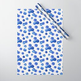 Indigo Blueberries Wrapping Paper