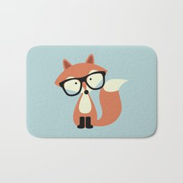 Hipster Red Fox Bath Mat
