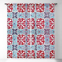 Seamless Floral Pattern Ornamental Tile Design :  5 Blackout Curtain