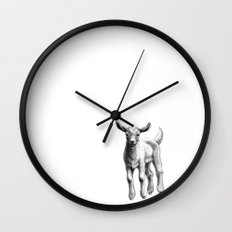White Goat Baby SK133 Wall Clock