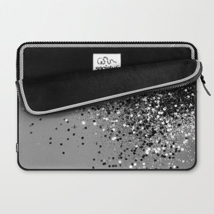 Sparkling Silver Gray Lady Glitter #1 #shiny #decor #art #society6 Laptop Sleeve