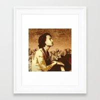 johnny depp Framed Art Prints featuring Johnny Depp by victorygarlic