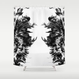 Soft Lines(B&W) Shower Curtain