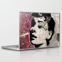 audrey Laptop & iPad Skins featuring Audrey by f_e_l_i_x_x