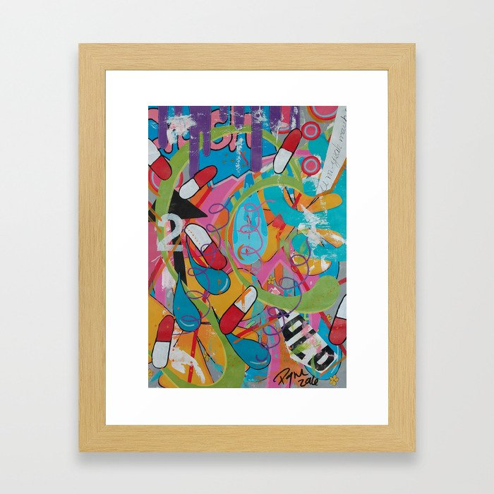 Chemical imbalance Framed Art Print
