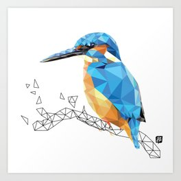 Kingfisher I. Art Print
