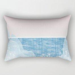 Pastel Sea Landscape Design Rectangular Pillow