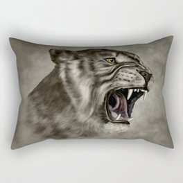 Roaring Liger - Digital Art Rectangular Pillow