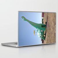dino Laptop & iPad Skins featuring dino by Natalie Jeffcott