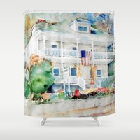 american beauty Shower Curtains featuring American Beauty by Bowles Fine Paintings