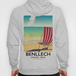 Benllech, Anglesey Wales vintage travel poster Hoody