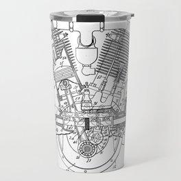 Internal Combustion Engine Vintage Patent Hand Drawing Travel Mug