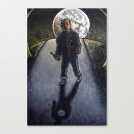 """Moon Over Jackson Pollock"" Canvas Print"