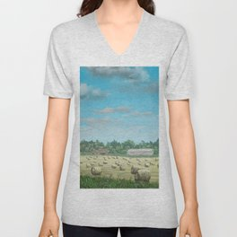 Field of Hay Unisex V-Neck