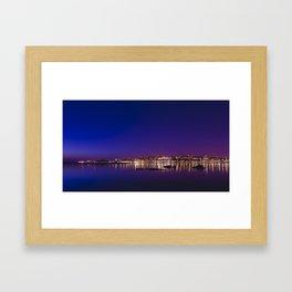Porto by Night. Framed Art Print