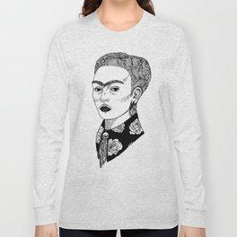 La Sombra de Frida Long Sleeve T-shirt