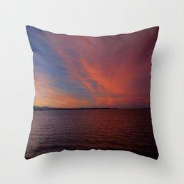 January 2014 Sunset Throw Pillow