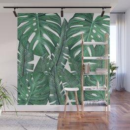 Tropical Leaves Art Print Wall Mural