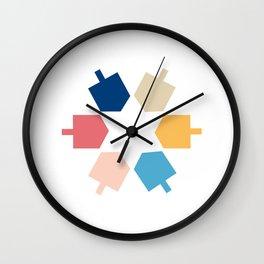Dreidel Star of David Wall Clock