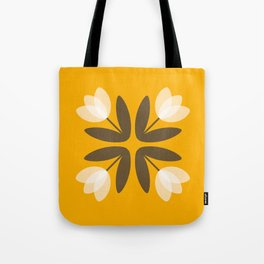 Tulips from Amsterdam in Mustard Yellow Tote Bag