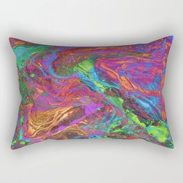 Psychedelic Cosmo Nightmare Glitch Rectangular Pillow