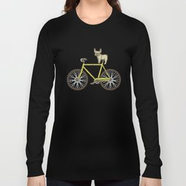 Frenchie on a Fixie Long Sleeve T-shirt