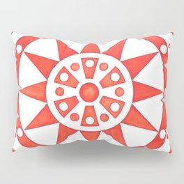 Radial Design Red No. 2 Pillow Sham