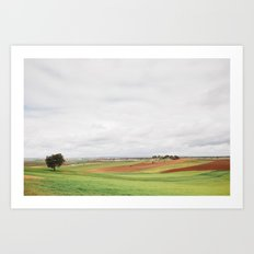 Countryside Landscape Art Print