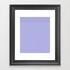 Light purple monochrome pattern with hearts . Framed Art Print