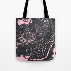 Kagami - spilled ink minimal modern abstract watercolor marble pattern marbling marble phone case Tote Bag