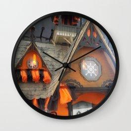 Misty Halloween Dollhouse Wall Clock