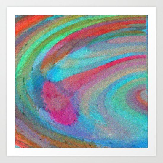 Swirls and Twirls Art Print