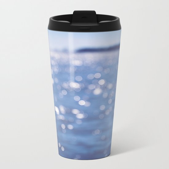Indigo Sea Metal Travel Mug