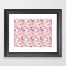 Cloud Pattern Framed Art Print
