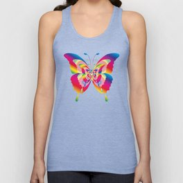 Butterflies Colorful Rainbow Spectrum Unisex Tank Top