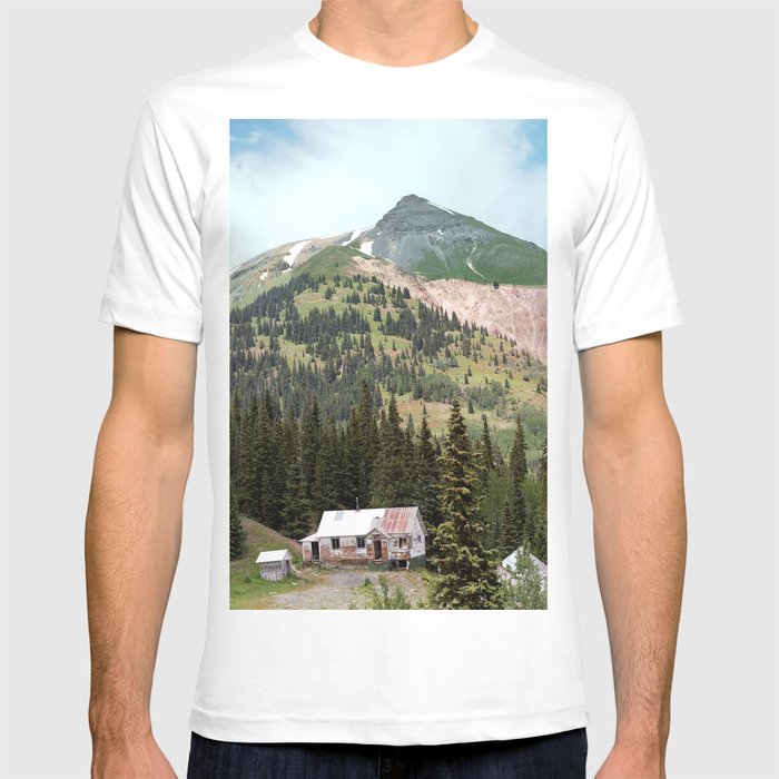 59fc5e05 Country Schoolhouse At The Gold Rush Idarado Mine T Shirt By