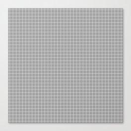 Grey Grid White Line Canvas Print