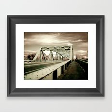 The Green Bridge Framed Art Print