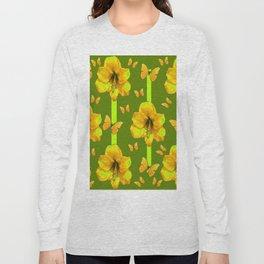 "GREEN AMARYLLIS ""FOR THE LOVE OF BUTTERFLIES"" Long Sleeve T-shirt"