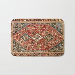 Qashqa'i  Antique Fars Persian Tribal Rug Print Bath Mat