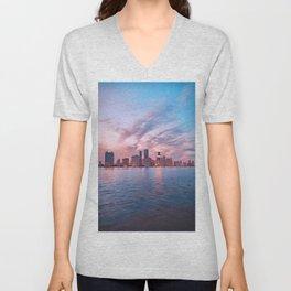 Miami Skyline Unisex V-Neck