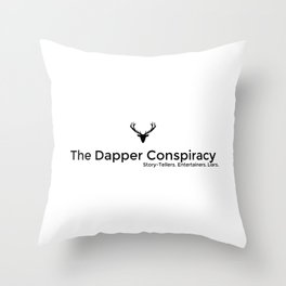 Simple Logo Black Throw Pillow