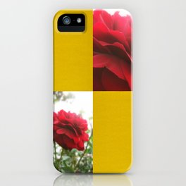 Red Rose with Light 1 Blank Q7F0 iPhone Case