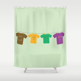 Hanging Tee Family Shower Curtain