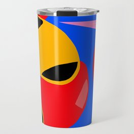 Blue yellow and black Travel Mug