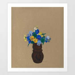 Pansies (1905) by Odilon Redon Art Print