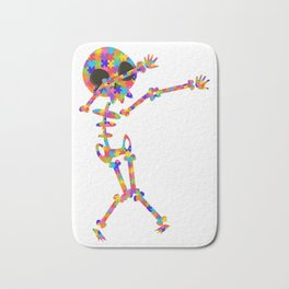 Dabbing Skeleton For Autism Bath Mat